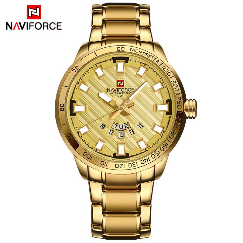 430eef34e0e RELOGIO MASCULINO DOURADO NAVIFORCE 9090 – Relógio Naviforce – Loja ...